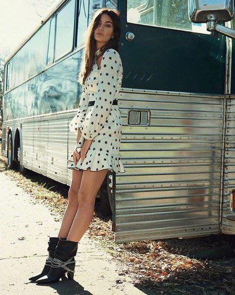 Lily Aldridge in Self Portrait