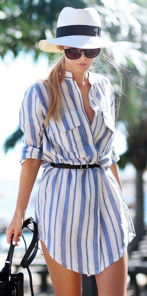 camicia mini dress
